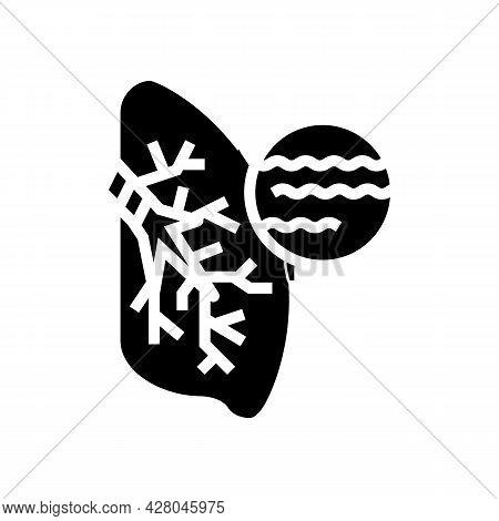 Bronchitis Disease Glyph Icon Vector. Bronchitis Disease Sign. Isolated Contour Symbol Black Illustr