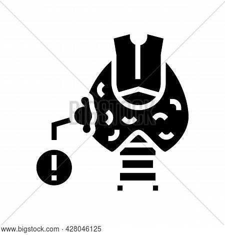 Thyroid Cancer Glyph Icon Vector. Thyroid Cancer Sign. Isolated Contour Symbol Black Illustration