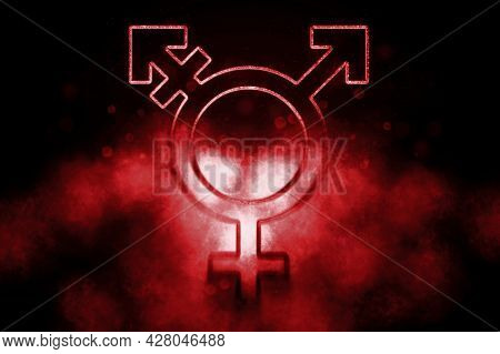 Transgender Symbol,combining Gender Symbol, Blue Symbol Transgender Symbol