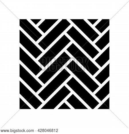 Wood Flooring Parquet Glyph Icon Vector. Wood Flooring Parquet Sign. Isolated Contour Symbol Black I