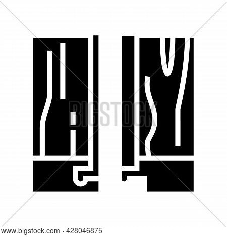 Modular Floor Puzzle Glyph Icon Vector. Modular Floor Puzzle Sign. Isolated Contour Symbol Black Ill