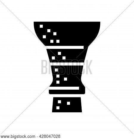 Hookah Clay Bowl Glyph Icon Vector. Hookah Clay Bowl Sign. Isolated Contour Symbol Black Illustratio