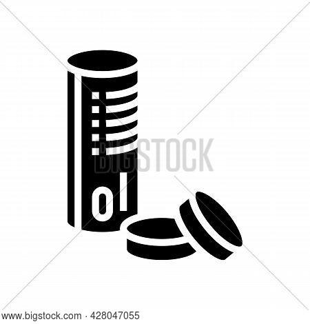 Self-igniting Coal Glyph Icon Vector. Self-igniting Coal Sign. Isolated Contour Symbol Black Illustr