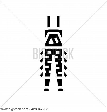 Camouflage Pants For Hunting Glyph Icon Vector. Camouflage Pants For Hunting Sign. Isolated Contour