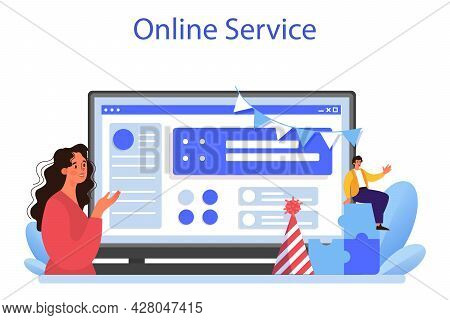Corporate Relations Online Service Or Platform. Business Ethics.