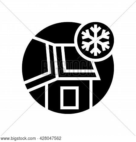 Ice And Water Shield Glyph Icon Vector. Ice And Water Shield Sign. Isolated Contour Symbol Black Ill