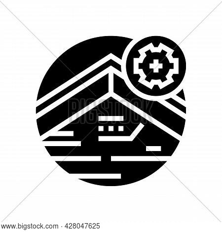 Roof Fascia Glyph Icon Vector. Roof Fascia Sign. Isolated Contour Symbol Black Illustration