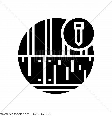 Roof Deck Glyph Icon Vector. Roof Deck Sign. Isolated Contour Symbol Black Illustration