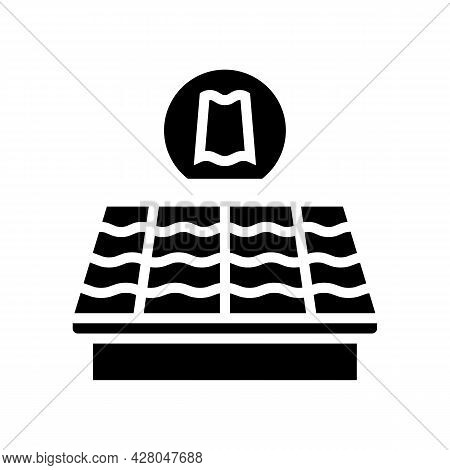 Slate Roof Glyph Icon Vector. Slate Roof Sign. Isolated Contour Symbol Black Illustration