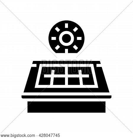 Solar Panel Installation Glyph Icon Vector. Solar Panel Installation Sign. Isolated Contour Symbol B