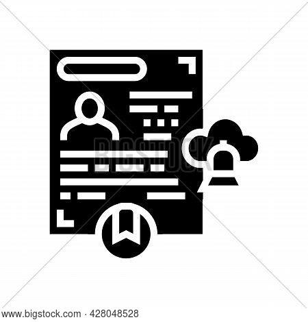 Religious Visa Glyph Icon Vector. Religious Visa Sign. Isolated Contour Symbol Black Illustration