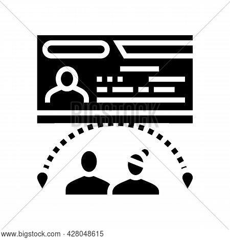 Marriage Visa Glyph Icon Vector. Marriage Visa Sign. Isolated Contour Symbol Black Illustration