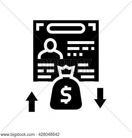 Investment Visa Glyph Icon Vector. Investment Visa Sign. Isolated Contour Symbol Black Illustration