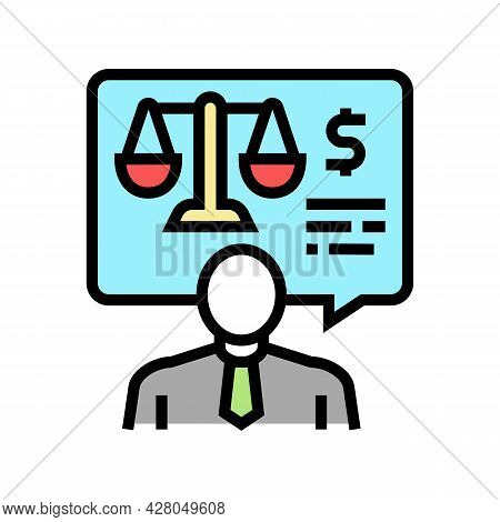 Advising Clients On Foreign Exchange Legislation Color Icon Vector. Advising Clients On Foreign Exch