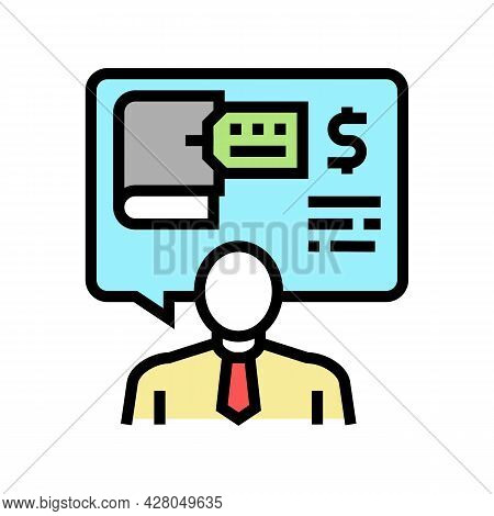 Advising Clients On Regulatory Issues Color Icon Vector. Advising Clients On Regulatory Issues Sign.