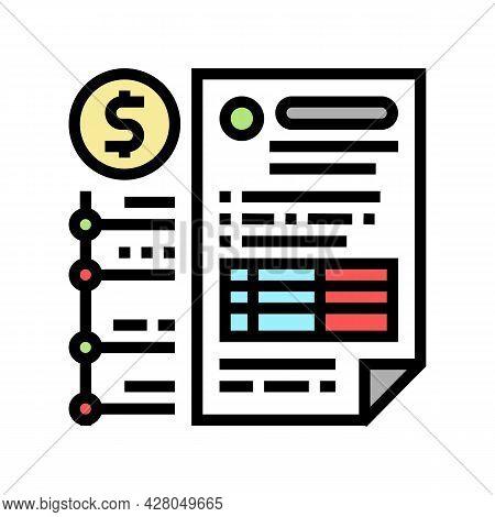 Providing Information On Cash Flow Color Icon Vector. Providing Information On Cash Flow Sign. Isola
