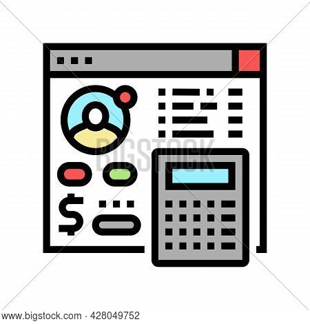 Settlements On Behalf Of Clients Color Icon Vector. Settlements On Behalf Of Clients Sign. Isolated