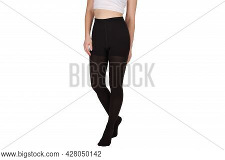 Compression Hosiery. Medical Compression Stockings And Tights For Varicose Veins And Venouse Therapy