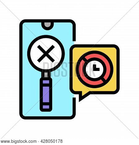 Research Ephemeral Color Icon Vector. Research Ephemeral Sign. Isolated Symbol Illustration