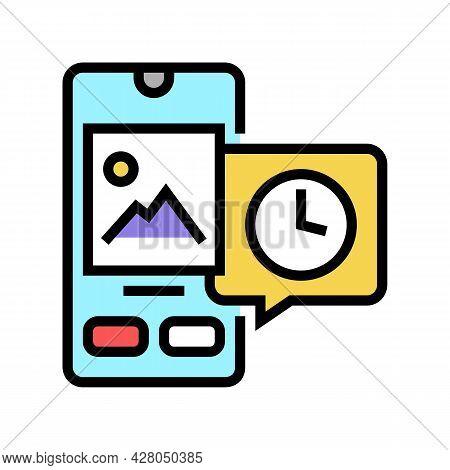 Digital Image Ephemeral Color Icon Vector. Digital Image Ephemeral Sign. Isolated Symbol Illustratio