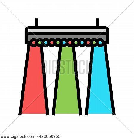 Multicolored Concert Lighting Color Icon Vector. Multicolored Concert Lighting Sign. Isolated Symbol