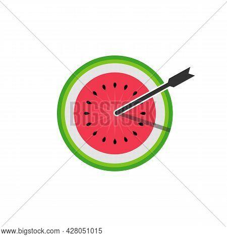Illustration Vector Graphic Of Bullseye Watermelon Logo