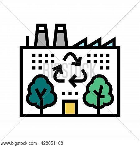 Environmental Recycling Color Icon Vector. Environmental Recycling Sign. Isolated Symbol Illustratio