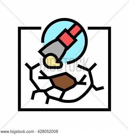 Drywall Repair Color Icon Vector. Drywall Repair Sign. Isolated Symbol Illustration