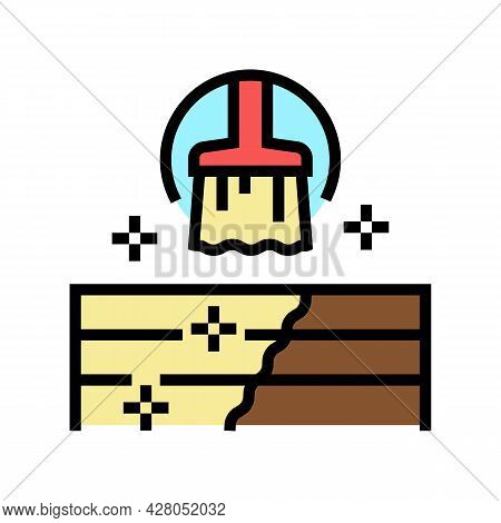 Deck And Patio Repair Color Icon Vector. Deck And Patio Repair Sign. Isolated Symbol Illustration