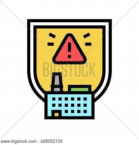 Special Hazardous Environments Color Icon Vector. Special Hazardous Environments Sign. Isolated Symb