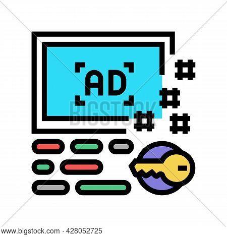 Advertising Keys Color Icon Vector. Advertising Keys Sign. Isolated Symbol Illustration