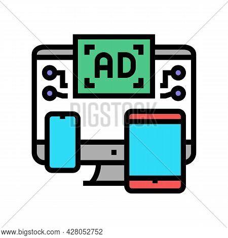 Cross Channel Retargeting Color Icon Vector. Cross Channel Retargeting Sign. Isolated Symbol Illustr