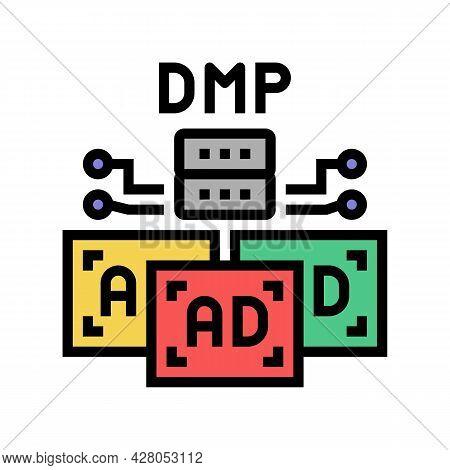 Data Management Platform Color Icon Vector. Data Management Platform Sign. Isolated Symbol Illustrat