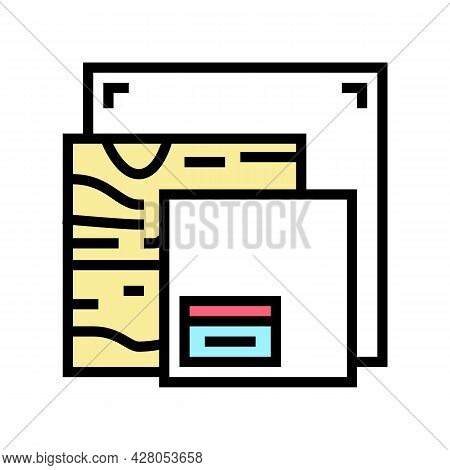 Canvas And Material Resin Art Color Icon Vector. Canvas And Material Resin Art Sign. Isolated Symbol
