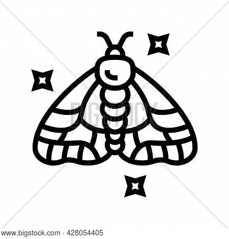 Insect Boho Line Icon Vector. Insect Boho Sign. Isolated Contour Symbol Black Illustration