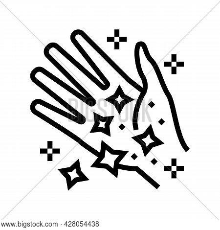 Hand Boho Line Icon Vector. Hand Boho Sign. Isolated Contour Symbol Black Illustration