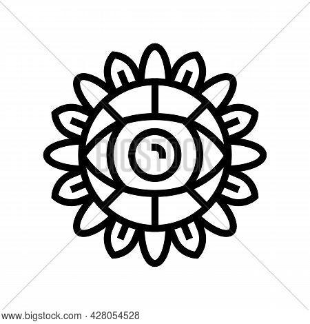Eye Boho Line Icon Vector. Eye Boho Sign. Isolated Contour Symbol Black Illustration