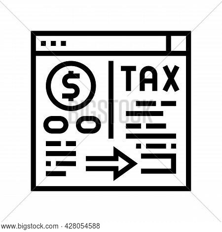 Payment Of Taxes And Fees Line Icon Vector. Payment Of Taxes And Fees Sign. Isolated Contour Symbol
