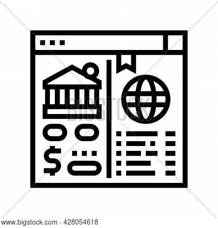 Opening Correspondent Accounts Line Icon Vector. Opening Correspondent Accounts Sign. Isolated Conto