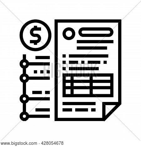 Providing Information On Cash Flow Line Icon Vector. Providing Information On Cash Flow Sign. Isolat