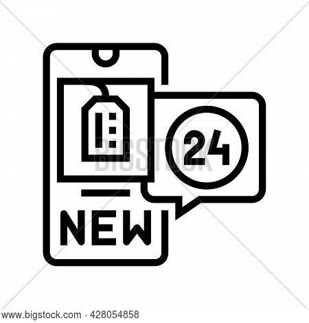 Discount Ephemeral Line Icon Vector. Discount Ephemeral Sign. Isolated Contour Symbol Black Illustra