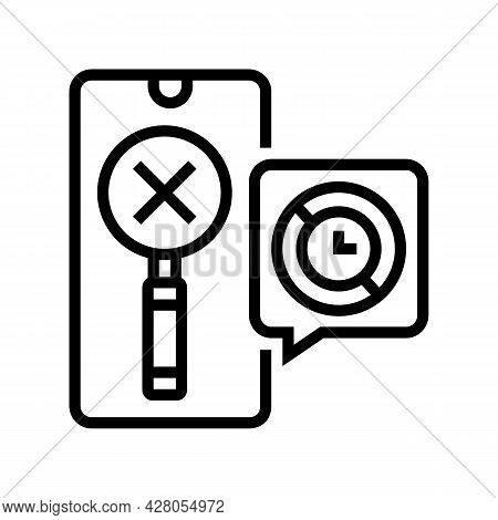 Research Ephemeral Line Icon Vector. Research Ephemeral Sign. Isolated Contour Symbol Black Illustra