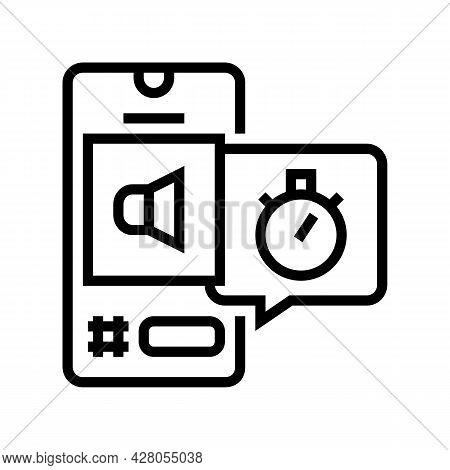 Digital Marketing Ephemeral Line Icon Vector. Digital Marketing Ephemeral Sign. Isolated Contour Sym