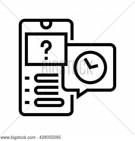 Quiz Ephemeral Line Icon Vector. Quiz Ephemeral Sign. Isolated Contour Symbol Black Illustration