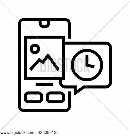Digital Image Ephemeral Line Icon Vector. Digital Image Ephemeral Sign. Isolated Contour Symbol Blac
