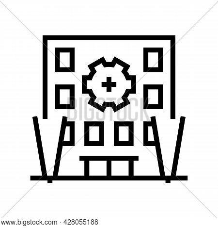Building Multicolor Lighting Line Icon Vector. Building Multicolor Lighting Sign. Isolated Contour S