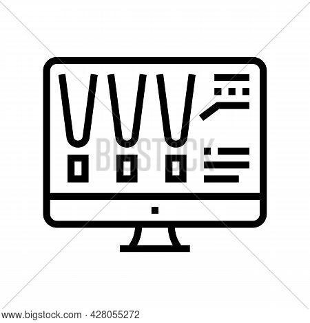 Choose Color Lighting On Computer Screen Line Icon Vector. Choose Color Lighting On Computer Screen