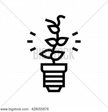 Alternative Energy Line Icon Vector. Alternative Energy Sign. Isolated Contour Symbol Black Illustra