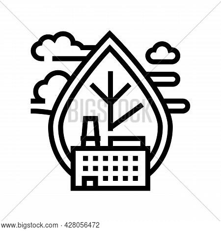 Air Emissions And Ambient Air Quality Line Icon Vector. Air Emissions And Ambient Air Quality Sign.