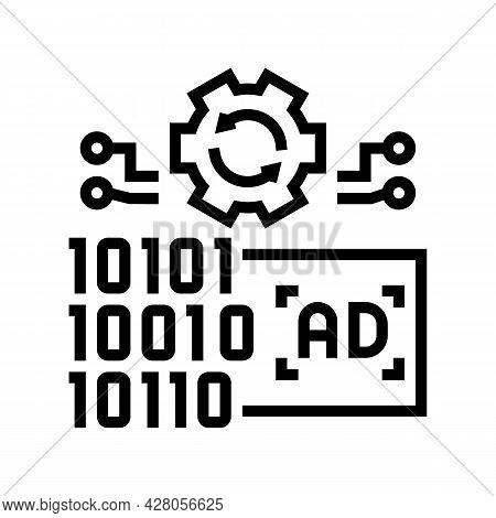 Omni Channel Advertisements Line Icon Vector. Omni Channel Advertisements Sign. Isolated Contour Sym